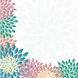 Flowers background. Romantic vector background with beautiful colored flowers Royalty Free Stock Image