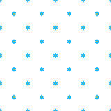 Flowers background, seamless pattern. Ornament consisting of small blue forget-me-not flowers with a large white space between the elements, similar to polka stock illustration