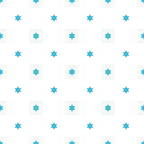 Flowers background, seamless pattern. Ornament consisting of small blue forget-me-not flowers with a large white space between the elements, similar to polka Stock Images