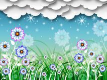 Flowers Background Shows Planting Gardening And Growth Stock Photo