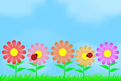 Flowers on the background of the sky. This is file of EPS10 format Stock Image