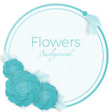 Flowers background with three dimensional blue rose Royalty Free Stock Photo