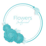 Flowers background with three dimensional blue rose Royalty Free Stock Images