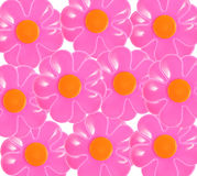 Flowers Backgrounds. Red flower, the composition of the background vector illustration