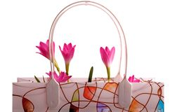 Flowers in a bag Royalty Free Stock Photography