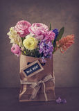 Flowers in a bag Royalty Free Stock Images