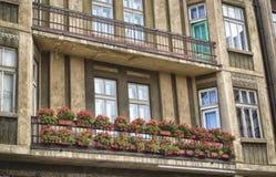 Flowers on balcony Stock Photography