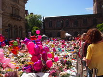 Flowers and Balloons for the victims of the Manchester Arena attack Royalty Free Stock Image
