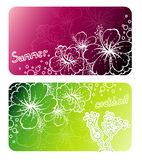 Flowers banners Royalty Free Stock Images