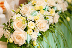 Flowers on Banquet table Stock Photography