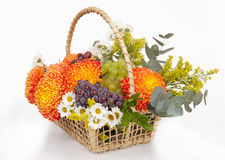 Flowers basket Stock Photo