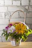 Flowers in basket Stock Image