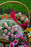 Flowers in the basket Stock Photography