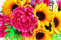Flowers in basket Royalty Free Stock Images