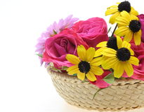 Flowers in the basket Royalty Free Stock Photography