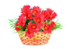 Flowers in basket Royalty Free Stock Photos
