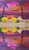 Flowers on Beach Royalty Free Stock Photos