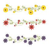 flowers beautiful frame decorative Stock Images