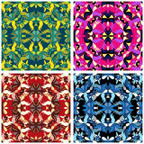 Flowers beautiful pattern collection vector illustration Royalty Free Stock Photography