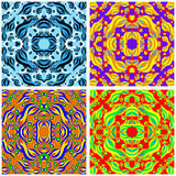 Flowers beautiful pattern collection vector illustration Royalty Free Stock Photos