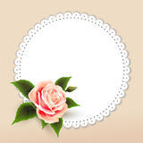 Flowers beautiful  roses and frame Royalty Free Stock Image