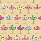 Flowers on a bed. Garden Seamless floral pattern. Color sprouts Stock Photo