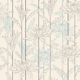 Flowers on a beige background Royalty Free Stock Image