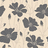 Flowers. On a beige background in seamless pattern Stock Photos