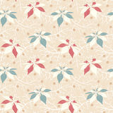 Flowers on a beige background Royalty Free Stock Photos