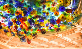 Flowers at Bellagio. Flowers on the ceiling of Bellagio, Las Vegas Royalty Free Stock Images