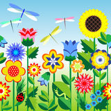 Flowers_bg Stock Image