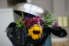 Flowers in a bin Royalty Free Stock Images