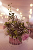 Flowers in a birdcage Royalty Free Stock Photography