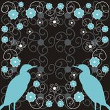 Flowers and birds. Decorative background with flowers and birds Royalty Free Illustration