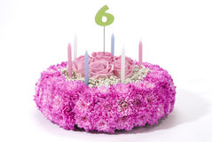 Flowers birthday cake Stock Images