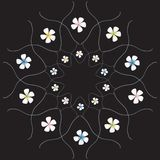 Flowers on the black background. Flowers background Vector Illustration