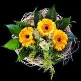 Flowers on black Royalty Free Stock Photos