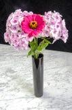 Flowers in black vase Royalty Free Stock Image