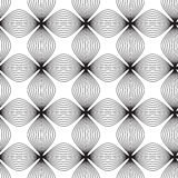 Flowers, black and white abstract geometric  seamless patt Royalty Free Stock Photos