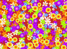 Flowers blooming background Stock Image