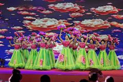 Flowers blooming like a piece of brocade-Women entrepreneurs chamber of Commerce celebrations. In March 18, 2018, organized by the Nanchang Municipal Chamber of Stock Photos