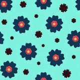Flowers on a blue background Royalty Free Stock Photography