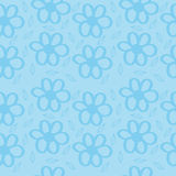 Flowers Blue Background. Seamless texture Stock Photography