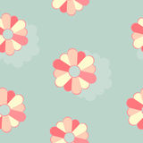 Flowers on a Blue Background. Seamless texture Stock Photos