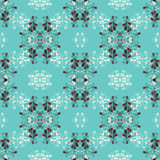 Flowers on a blue background vector seamless pattern. (vector eps 10 vector illustration