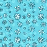 Flowers seamless pajama or wrapping pattern for kids. Royalty Free Stock Photo