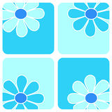 Flowers - Blue Composition Stock Photography