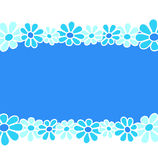 Flowers - Blue composition royalty free stock images