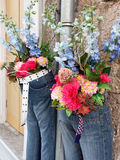 Flowers in Blue Jeans Stock Photos