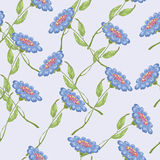 Flowers. Blue flowers on the tender blue background vector illustration